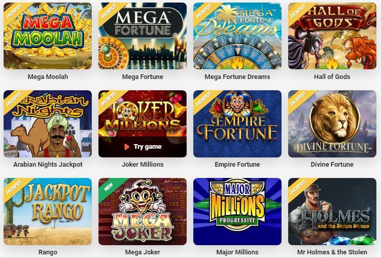 LeoVegas offers a massive selection of jackpot games