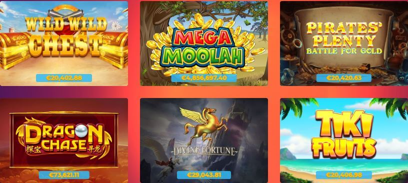 Enjoy massive progressive jackpot games at Casino Gods