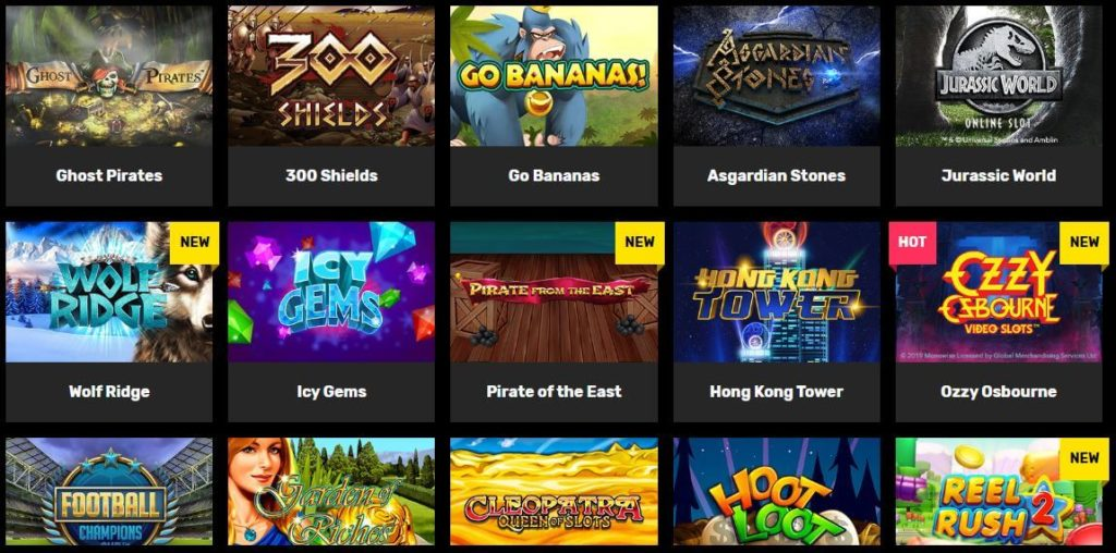Premium slots from popular gaming providers