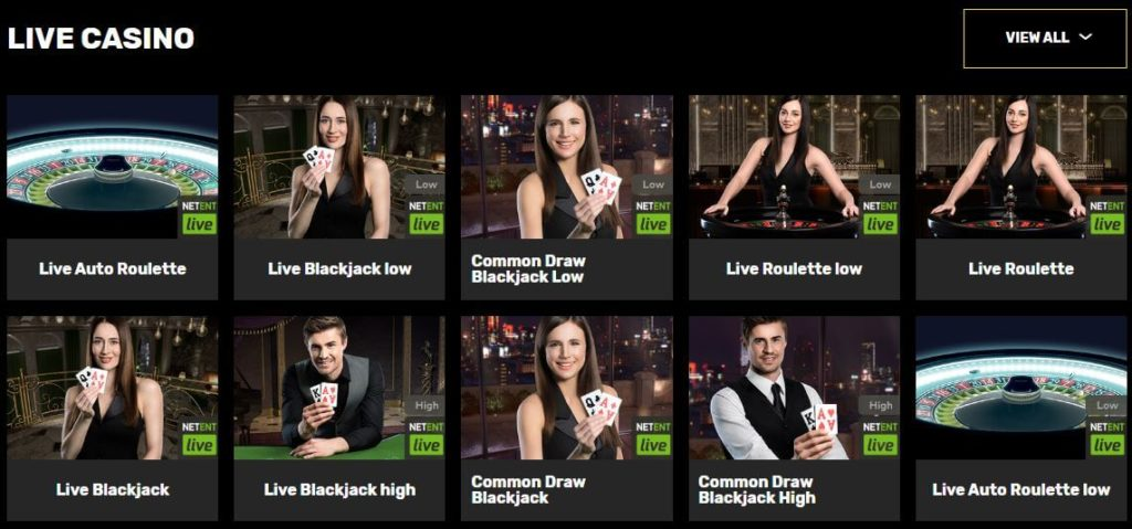Live Casino Games with English and French speaking dealers at Hyper Casino