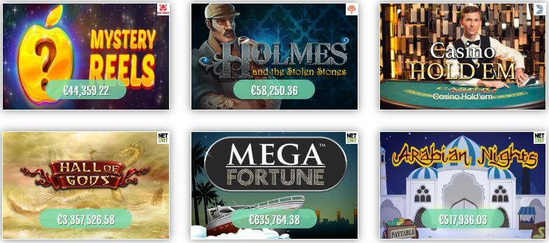Find the most popular jackpot games at Sloty Casino