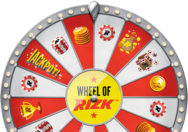 Spin the Wheel of Rizk to win free spins and cash bonuses